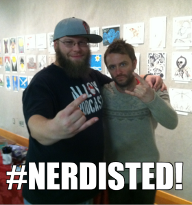 "Chris Hardwick and I at ""The Nerdist Way"" book signing at Powell's Books in Portland, Oregon"